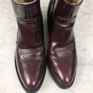 Durango Zip Ankle Western Short Boots Toe Stitch